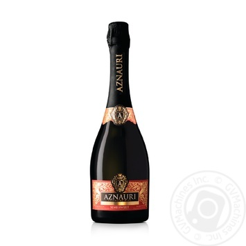 Вино ігристе Aznauri червоне напівсолодке 10-13.5% 0,75л