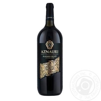 Вино Aznauri Алазанська долина червоне напівсолодке 9-13% 1,5л