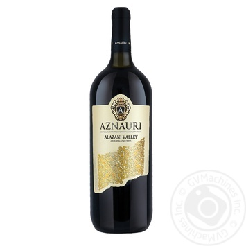 Вино Aznauri Алазанская долина белое полусладкое 9-13% 1,5л