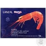 Lanzal Shrimp Argentinean red cheeses with head in shell  quick-frozen L2 2kg