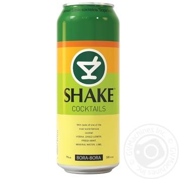 Напій слабоалкогольний Шейк Бора Бора 7%об. 500мл - купити, ціни на Метро - фото 1