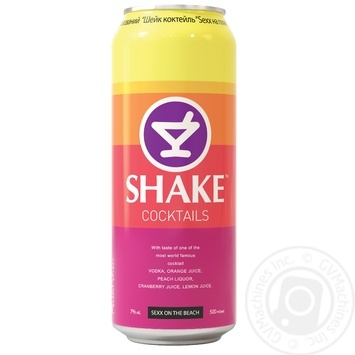 Напій слабоалкогольний Shake Sexx on the beach з/б 7% 0,5л - купити, ціни на Метро - фото 1