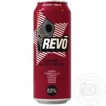 Напій слабоалкогольний енергетичний Рево Вишня 8.5%об. 500мл - купити, ціни на Novus - фото 1