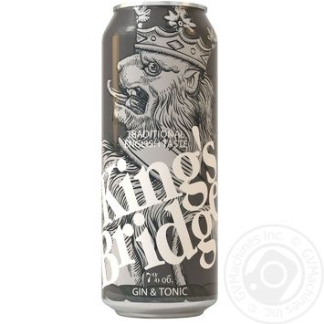 Напиток слабоалкогольный King's Bridge Джин c тоником жестяная банка 7% 0,45л - купить, цены на Novus - фото 1