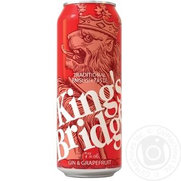 Напиток слабоалкогольный King's Bridge Джин с грейпфрутовым соком 7% 0,45л - купить, цены на Novus - фото 1
