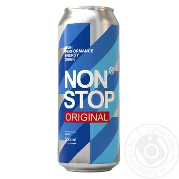 Напій енергетичний Non Stop Original 0.5л - купити, ціни на МегаМаркет - фото 1