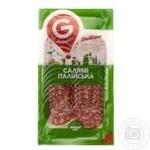 Колбаса Глобино Салями Итальянская нарезка сырокопченая высшего сорта 80г - купить, цены на Фуршет - фото 4