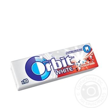 Резинка жевательная Orbit Белоснежный классический с мятным вкусом 13,6г - купить, цены на Novus - фото 1