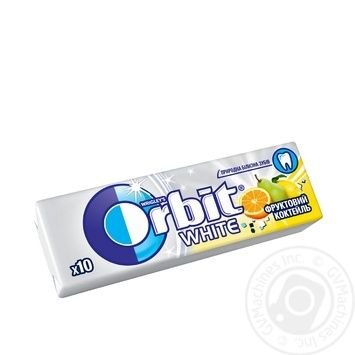 Orbit White Fruit Cocktail Chewing Gum14g - buy, prices for Tavria V - image 1