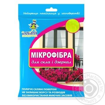 Салфетка из микрофибры Добра Господарочка для стекла 1шт - купить, цены на Novus - фото 1