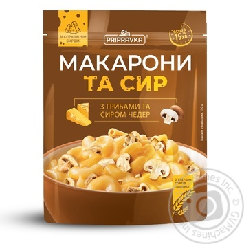 Pripravka Macaroni and cheese with mushrooms and cheddar cheese 150g - buy, prices for MegaMarket - image 1