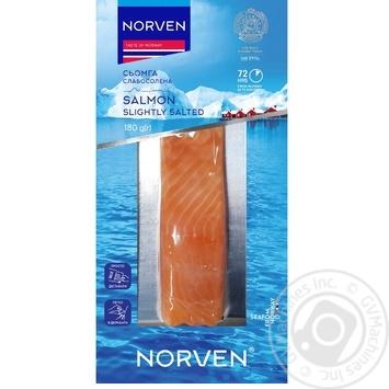 Семга Norven слабосоленая филе кусок 180г - купить, цены на Ашан - фото 2
