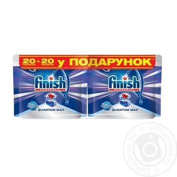 Таблетки для посудомоечных машин Finish Quantum Ultimate 20шт. - купить, цены на Ашан - фото 2