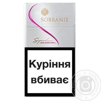Сигареты Sobranie Superslims white - купить, цены на Метро - фото 2