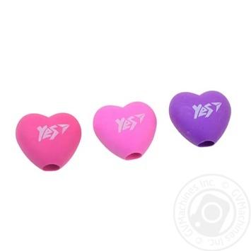 Ластик-насадка на олівець YES Heart