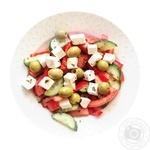 Салат з оливками та фетою з оливковою олією 150г