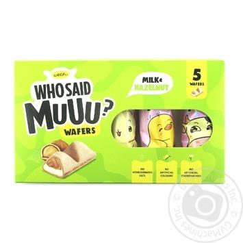 Вафлі АВК Who Said Muuu молочно-горіхові 58г - купити, ціни на ЕКО Маркет - фото 2