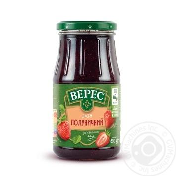 Джем Верес Клубничный 650г - купить, цены на МегаМаркет - фото 1