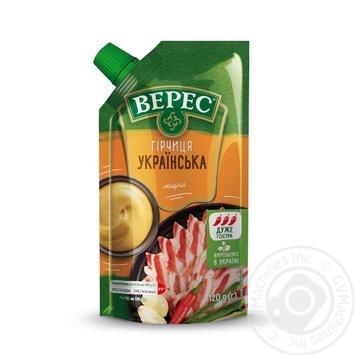 Горчица Верес Украинская острая 120г - купить, цены на МегаМаркет - фото 1