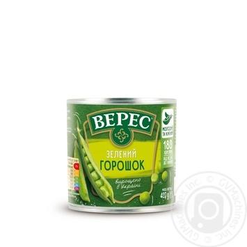 Горошок зелений Верес 420г - купити, ціни на МегаМаркет - фото 2