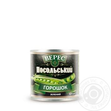 Горошек зеленый Верес Посольский 420г - купить, цены на Novus - фото 2
