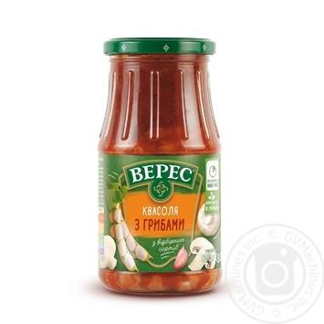 Фасоль Верес с грибами в томатном соусе 530г - купить, цены на Novus - фото 1