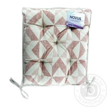 Подушка на стілець Novus Home Карамель 40*40см - купить, цены на Novus - фото 1