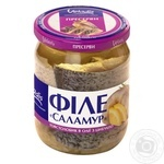 Salamuri-Silver Carp fillet-pieces in oil with onions Veladis 470g