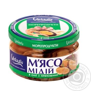 М'ясо Мідій в олії з прянощами Veladis 200г - купити, ціни на Novus - фото 2