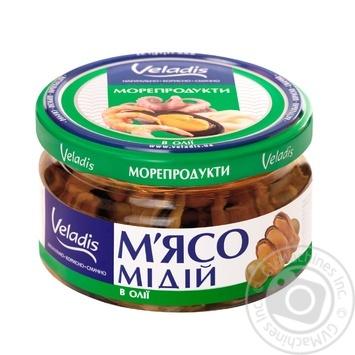 Мясо Мидий в масле Veladis 200г - купить, цены на Ашан - фото 1