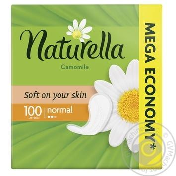 Щоденні прокладки Naturella Сamomile Normal 100шт - купити, ціни на МегаМаркет - фото 1