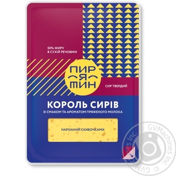 Piryatin Cheese King With Melted Milk Aroma And Taste Hard Cheese 50% 150g