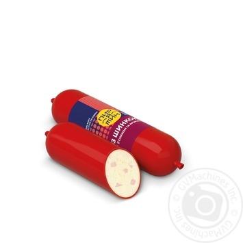 Сыр плавленый Приятин с ароматом и вкусом ветчины колбасный копченый 60% 150г - купить, цены на Фуршет - фото 1