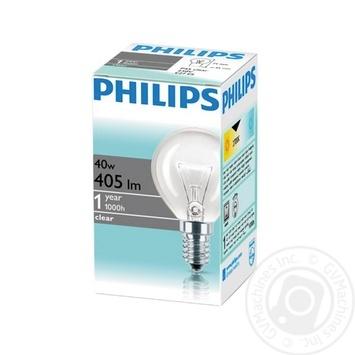 Лампа накаливания Philips Stan 40W E14 230V P45 CL 1CT/10X10F - купить, цены на Novus - фото 1