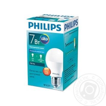 Лампа светодиодная Philips ESS LEDBulb 7W-75W E27 6500K 230V A60 RCA