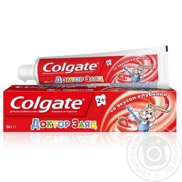Детская зубная паста Colgate Доктор Заяц со вкусом клубники 50мл - купить, цены на Varus - фото 1