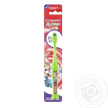 Зубная щетка Colgate Доктор заяц для детей от 2-х лет мягкая в ассортименте - купить, цены на Таврия В - фото 1