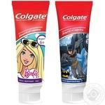 Зубная паста Colgate Barbie/Batman детская 6+ 75мл - купить, цены на Восторг - фото 1