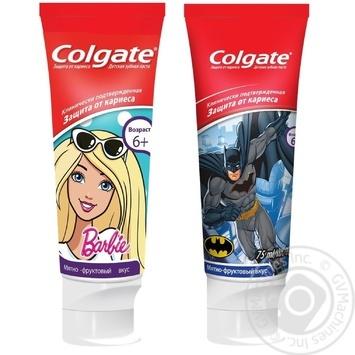 Зубная паста Colgate Barbie/Batman детская 6+ 75мл - купить, цены на Novus - фото 1