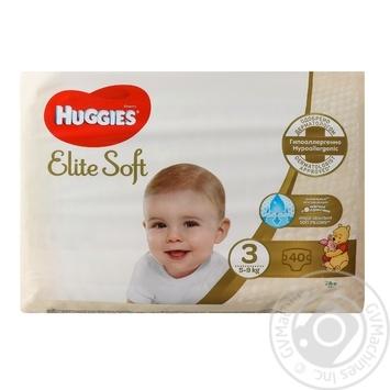 Подгузники Huggies Elite Soft детские 5-9кг 40шт