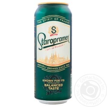 Пиво Staropramen светлое 4,2% 0,5л - купить, цены на Novus - фото 1