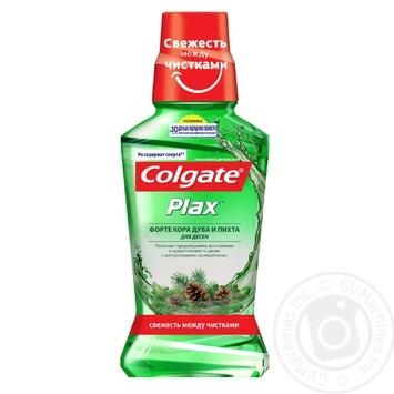 Ополаскиватель полости рта Colgate PLAX Форте Кора дуба и Пихта для десен антибактериальное действие 250мл - купить, цены на Фуршет - фото 1