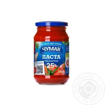 Паста томатная Чумак 25% 350г - купить, цены на Novus - фото 1