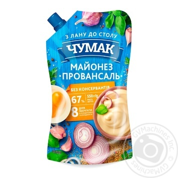 Chumak Provence Mayonnaise 67% 550g - buy, prices for MegaMarket - image 1