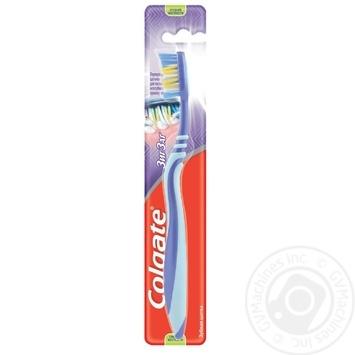 Зубна щітка Colgate Зиг Заг Плюс середньої жорсткості в асортименті - купити, ціни на Ашан - фото 1
