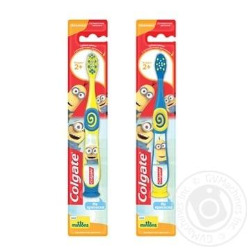 Зубная щётка Colgate Миньоны для детей 2+ супермягкая в ассортименте - купить, цены на Фуршет - фото 1