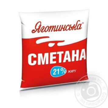 Сметана Яготинська 21% 400г - купити, ціни на МегаМаркет - фото 1