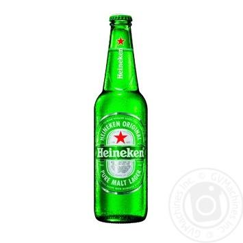 Пиво Heineken светлое фильтрованное пастеризованное 5% 0,5л - купить, цены на Novus - фото 1
