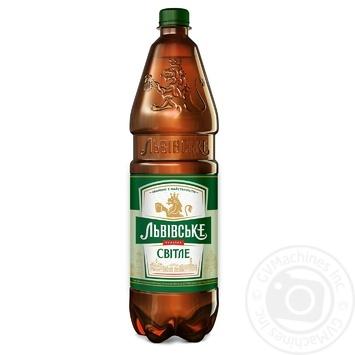 Lvivske Light Beer 4,5% 1,2l - buy, prices for CityMarket - photo 1