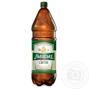 Пиво Львівське світле 4,7% 2,4л - купити, ціни на Novus - фото 1